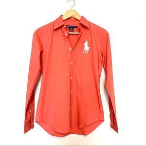Ralph Lauren Slim Fit Button Down- Size 6